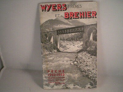 Vintage Wyers Freres Et Brehier Advertising Fishing Catalogue 1952/53 Season