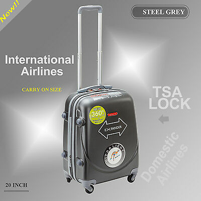 Single 20 inch(45L) Luggage Trolley Travel Bag 4 Wheel suitcase Cabin Carry On
