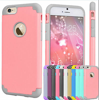 Shockproof Rugged Hybrid Rubber Silicone Soft Case Cover For iPhone 6 6S 7 Plus