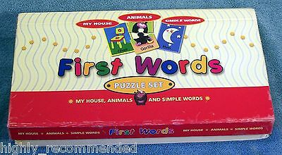 First Words Puzzle Set Includes My House, Animals, and Simple Words by Spice Box
