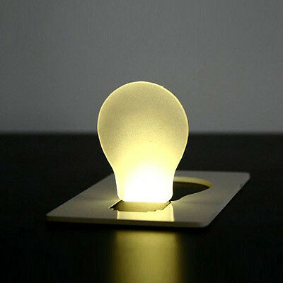 New Portable LED Card Light Pocket Lamp Put In Purse Wallet Emergency Light