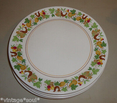 "Vintage White Noritake Progression Homecoming Lunch Plate 8"" Hens Fruit  Salad"