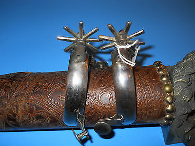 Vintage Pair of Dom Pedro Style  Mexican Spurs