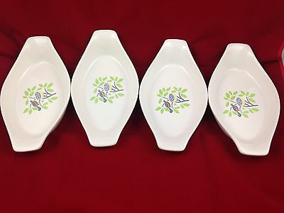 4 JGI Country Collection Ovenware Serving Dishes Made in Japan White Bird & Nest