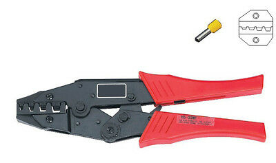 Cable End-Sleeves Ratchet Crimper Plier AWG 8-2 Capacity:10-35mm2