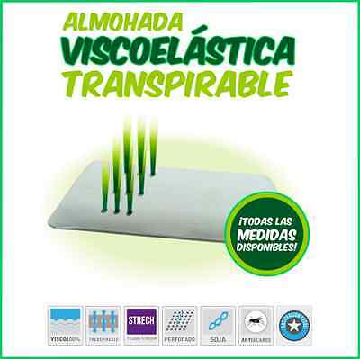 Almohada viscoelastica 100% transpirable (individuales o en pack de 2)