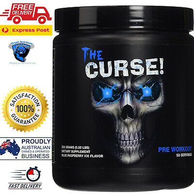 Cobra Labs The Curse Pre-Workout Blue Raspberry Ice 50 Serves FREE EXPRESS POST