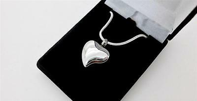 316L Silver Teardrop Heart Steel Heart Memorial Cremation Urn Pendant Jewellery