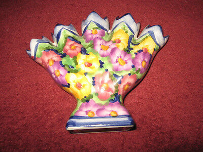 Five Finger PANSY Vase Portuguese Jay Willfred div of Andrea by Sadek WINTERTHUR