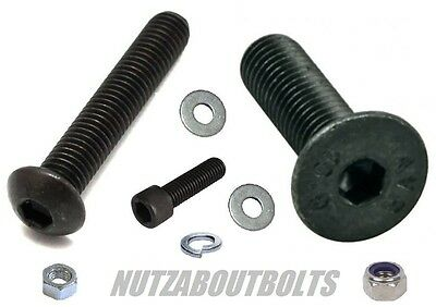 Nut Bolt and Washer 4 Pack High tensile socket cap/button Dome & countersunk csk