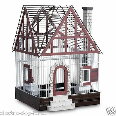 """Featherstone Heights Tudor Bird Cage 16"""" L x 16"""" W x 24"""" H by Prevue Hendryx"""