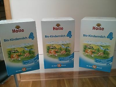 Holle Organic Stage 4 Baby Infant formula (3 Boxes) Sealed Priority Shipping
