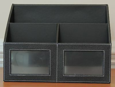 Black Leather Letter and Envelope Holder (A Great Holiday Gift) - NEW