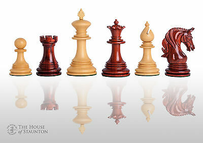 """The Teramo Luxury Chess Set - Pieces Only - 4.4"""" King - Blood Rosewood"""