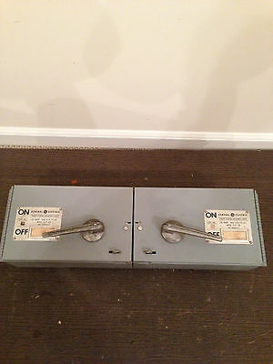 General Electric, THFP361L 30 Amps 600 volt, twin switch with mounting straps