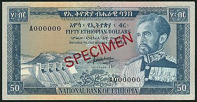 National Bank Of Ethiopia 50$ ND 1966 Specimen P28s Uncirculated