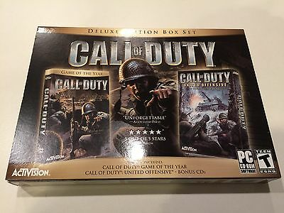 Call of Duty Deluxe  (PC, 2005) - Deluxe Edition Box Set - NEW - NEVER PLAYED