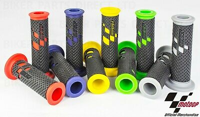 Motorcycle Grips Official Motogp Premium Handlebar Grips Red Green Blue Yellow