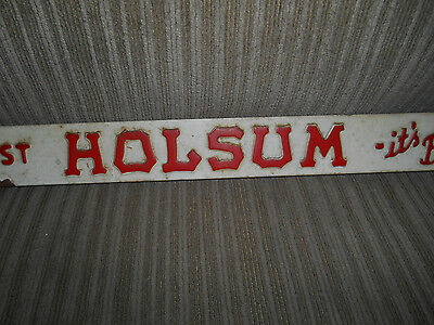Vtg. We Suggest Buy  Holsum Bread Door Push Plate Country Store Advertising Sign