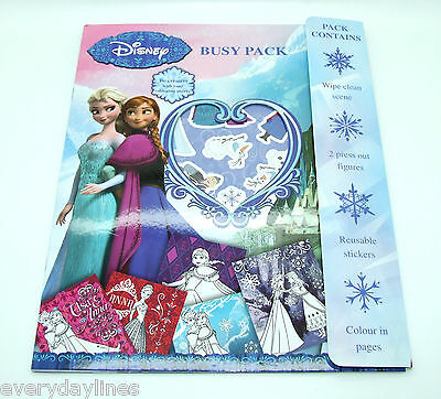 ** Disney Frozen Busy Pack  - Colouring Sheets - Wipe Clean Scene - Stickers **