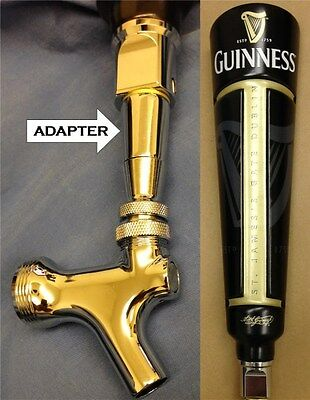 NEW Guinness Draught beer tap handle faucet ADAPTER GLD **READ**