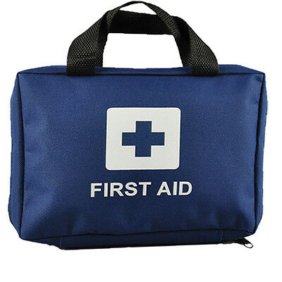 99pcs EZY-AID Supreme First Aid Kit Bag, BLUE : Inc. Crepe, Ice Packs, CE Marked