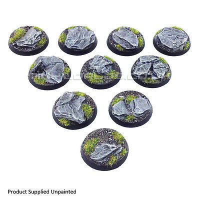 32mm Round Rock / Slate Scenic Resin Bases - Warhammer 40K Space Marine