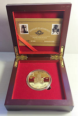 """""""NED KELLY"""" The Last Outlaw 1oz Coin With D/Box Finished in 999 24k Gold LTD #2"""