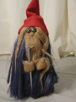 Handmade Gnome by 5 Arts Studio in Cosby TN (USA) 1995, 10in. with original tags