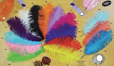 Large Big Ostrich Feathers Plummage Plume Pluma Fluff Quill Color Wedding Bulk
