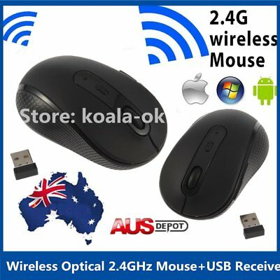 Hot Wireless Optical 2.4GHz Mouse Mice Slim +USB Receiver for Laptop PC Notebook