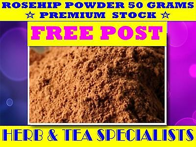 ROSEHIP POWDER 50G☆ PREMIUM GRADE STOCK Rosa canina ☆DRIED HERB☆ FREE POST