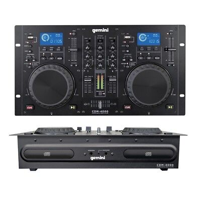 GEMINI CDM4000 mixer cd player table top caricamento a slot consolle per DJ liv