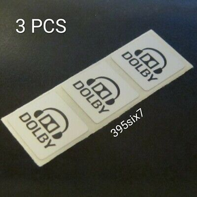 3x DOLBY Sticker 14.5mm x 14.5mm