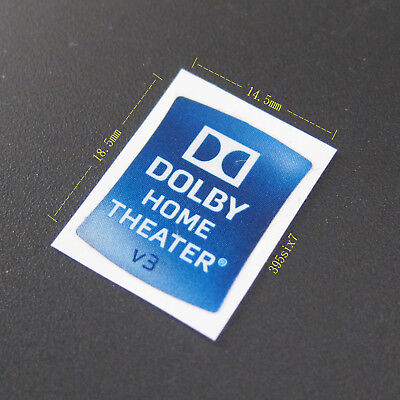 DOLBY HOME THEATER V3 Sticker 14.5mm x 18.5mm - New & Genuine
