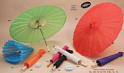 Paper Cloth Polyester Woooden Umbrella Parasols Decorative Wedding Baby Shower