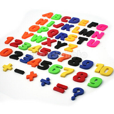 Set Of 52 Colorful Teaching Magnetic Letters & Numbers Fridge Magnets Alphabet