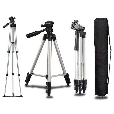 Universal Portable Aluminum Tripod Stand Camera Camcorder Lightweight with Bag