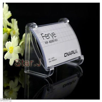 10pcs CLEAR Acrylic Desktop Business Card Sign Display Holder Price Label Stand