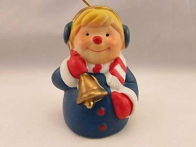 1985 Hand Painted Girl Bisque Porcelain Christmas Ornament - Orig. Box!