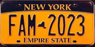 New York EMPIRE GOLD License Plate - NY TAG SIGN MANCAVE