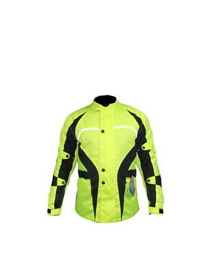 BNWT Hi-Vis Cordura Waterproof Breathable CE Armoured 3M Motorcycle Jacket