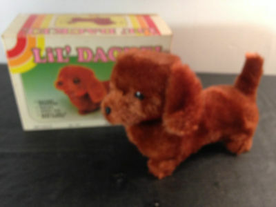 Vintage Battery Operated Lil' Dackel Dog Made in Hong Kong