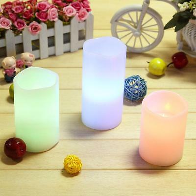 3pcs LED Light Remote Control Real Wax Flameless Candle Pack with Remote & Timer