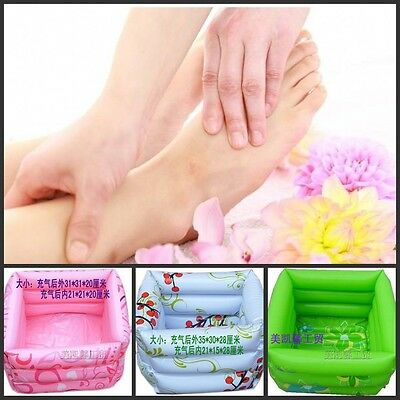 1pc New Pink Foot Spa Inflatable Portable Foot Bath 33*33*20cm Free Shipping