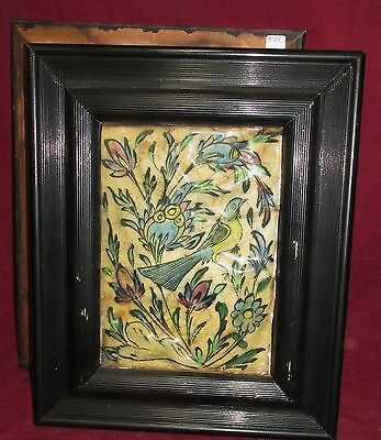 Antique Persian Tile Ornithological Bird Subject Middle Eastern