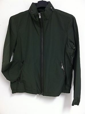 NWT Authentic COACH Men's Nylon Racer Winter Lightweight Jacket Olive LARGE