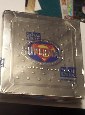 1994 SUPERMAN PLATINUM SERIES TRADING CARDS by SKYBOX! UNOPENED SEALED BOX!