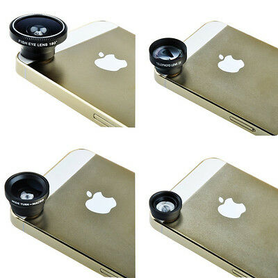 4in1 Fish Eye+ Wide Angle+ Micro + Telephoto Camera Lens for iPhone 6 6Plus 5S 5