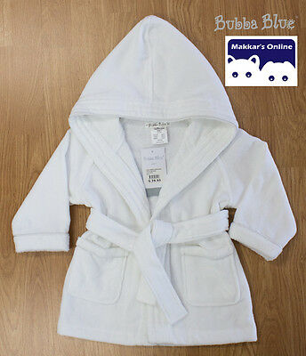 Bubba Blue EVERYDAY ESSENTIALS Toweling Baby Luxury Bathrobe - 3 Sizes